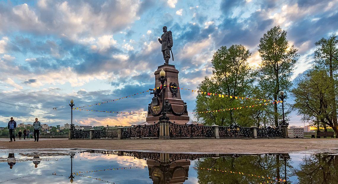 Irkutsk. Alexander III-Denkmal