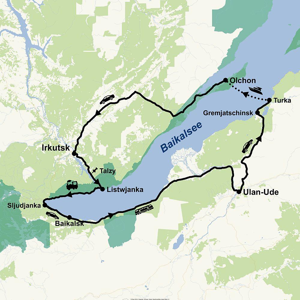 Route Baikal 12 Tage Reisepaket
