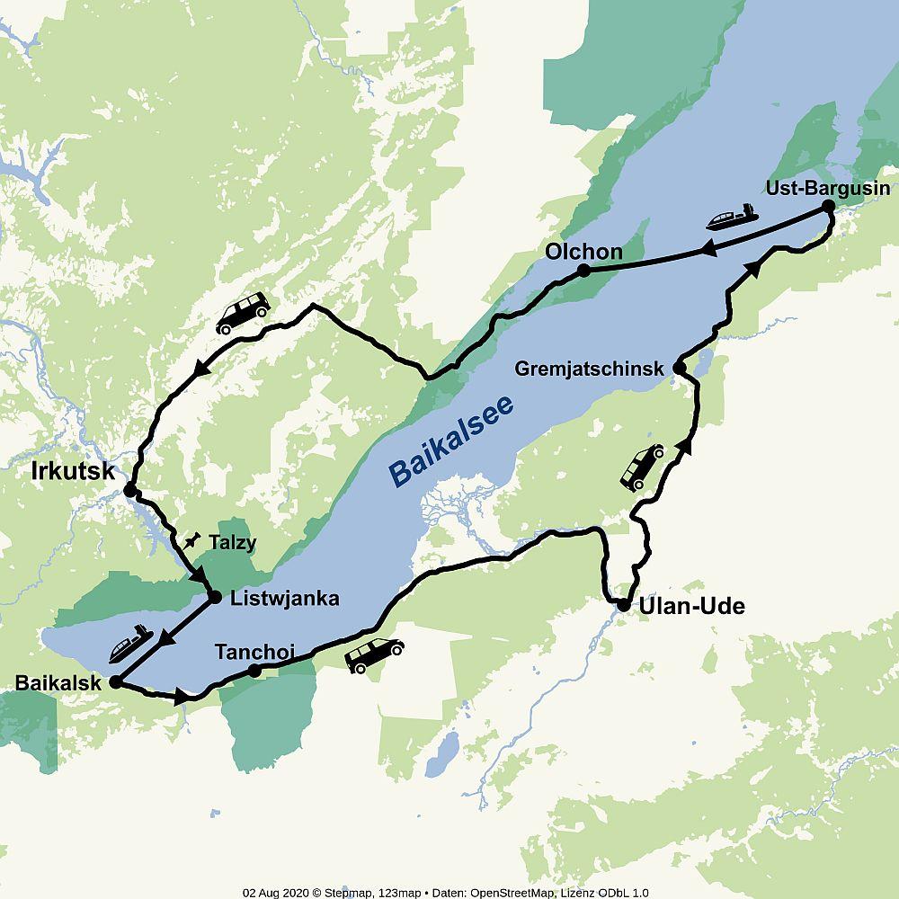 Route Baikal 11 Tage Reisepaket