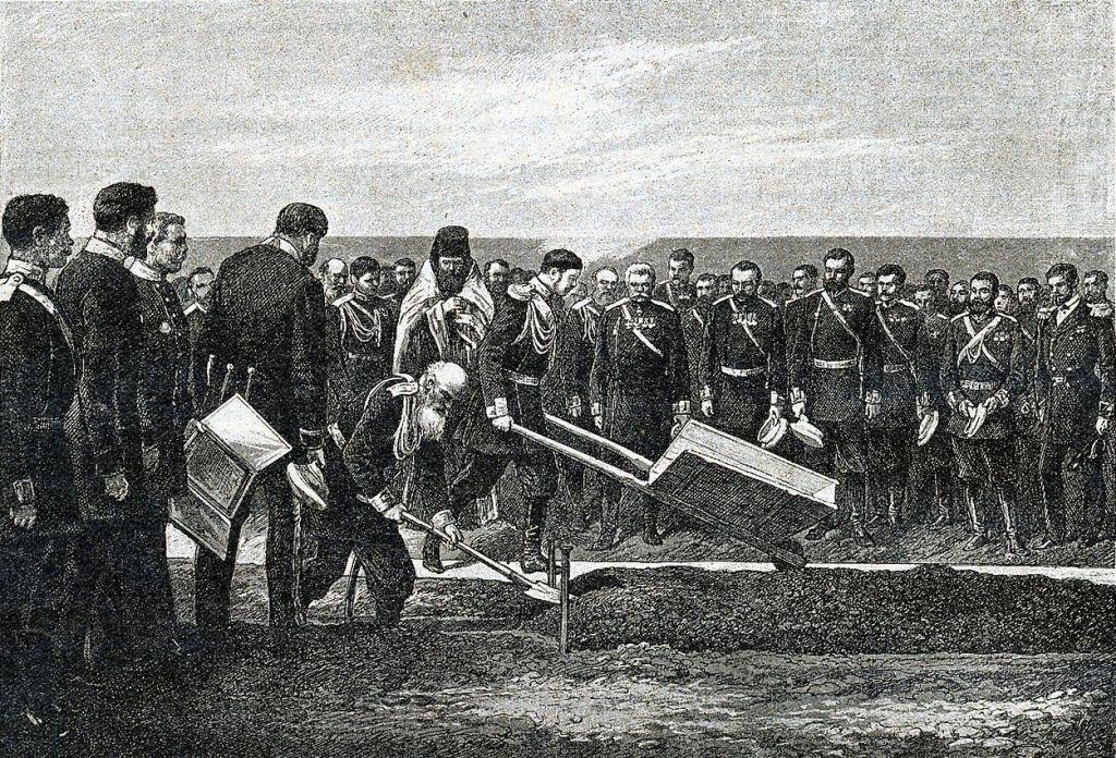 Zarewitsch Nikolai startet den Bau der Transsib
