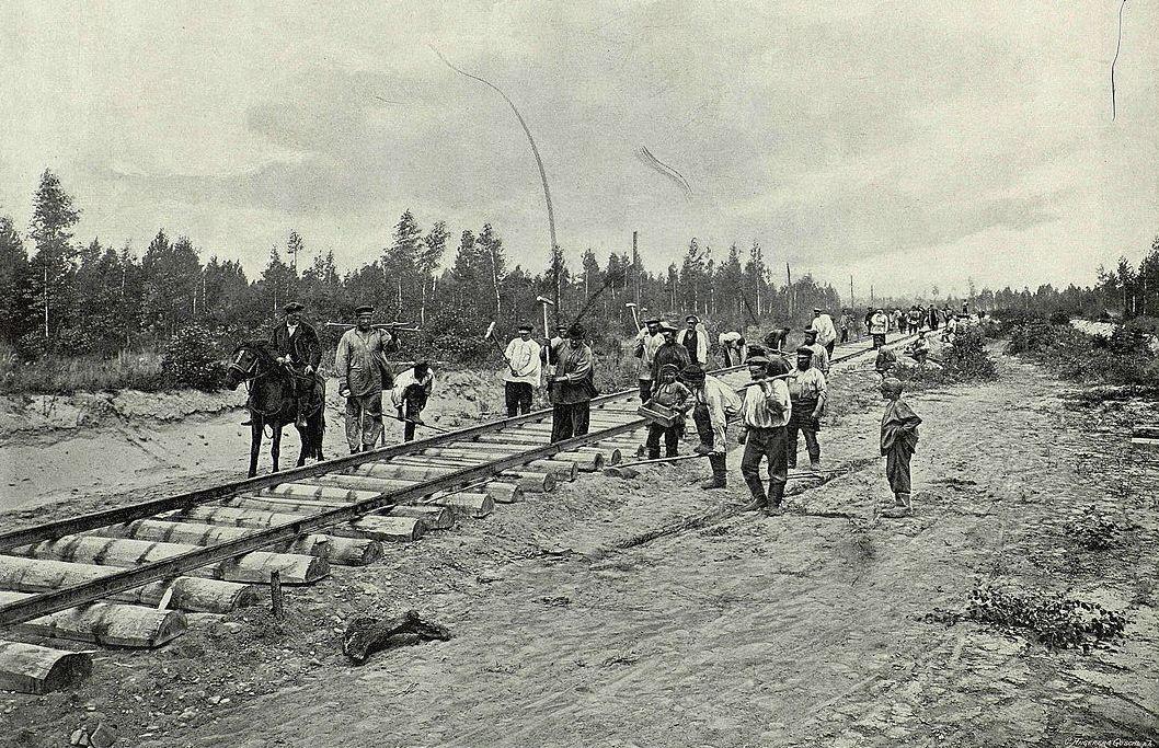 Mittelsibirische Bahnlinie, 1893. Gleisverlegung