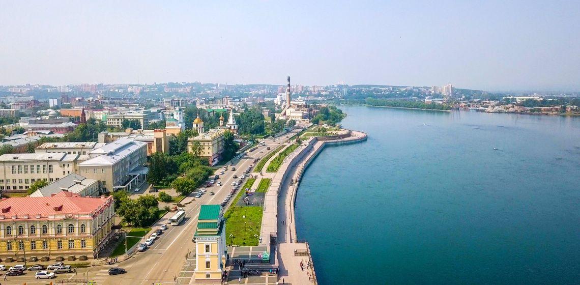 Irkutsk. Ufer der Angara