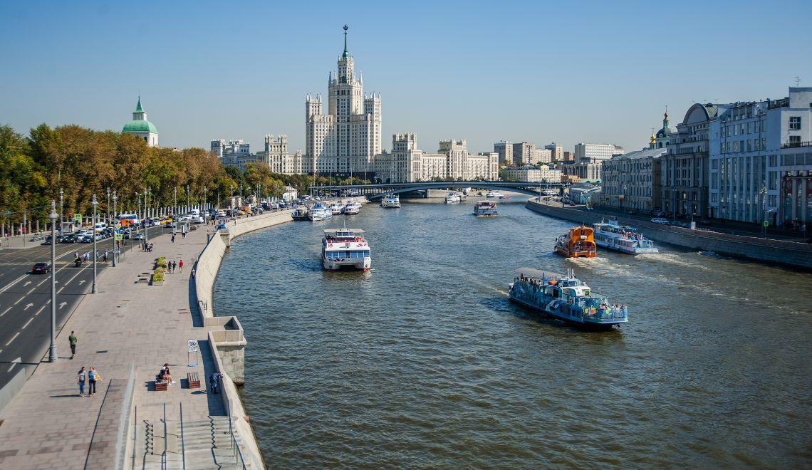 Bootstour auf dem Fluss Moskwa