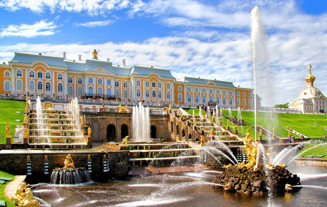 Peterhof. Die Große Kaskade