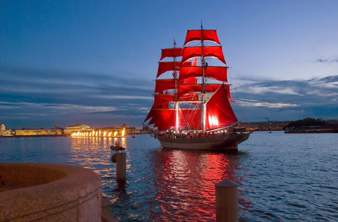 Fest der purpurroten Segel in St. Petersburg