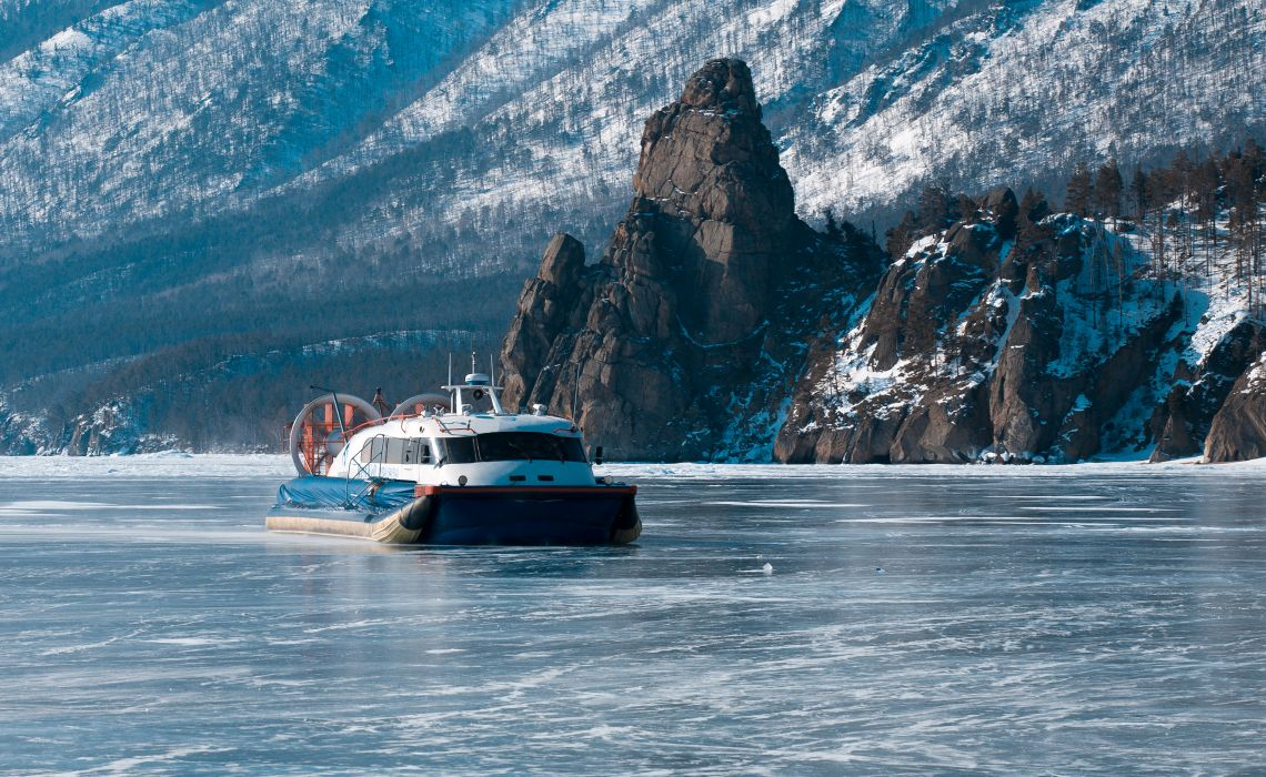 Luftkissenboot-Fahrt