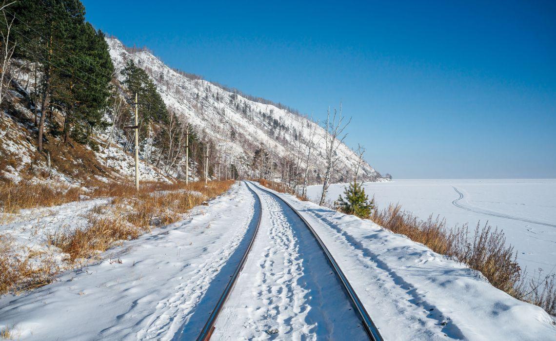 Circum-Baikalbahn im Winter