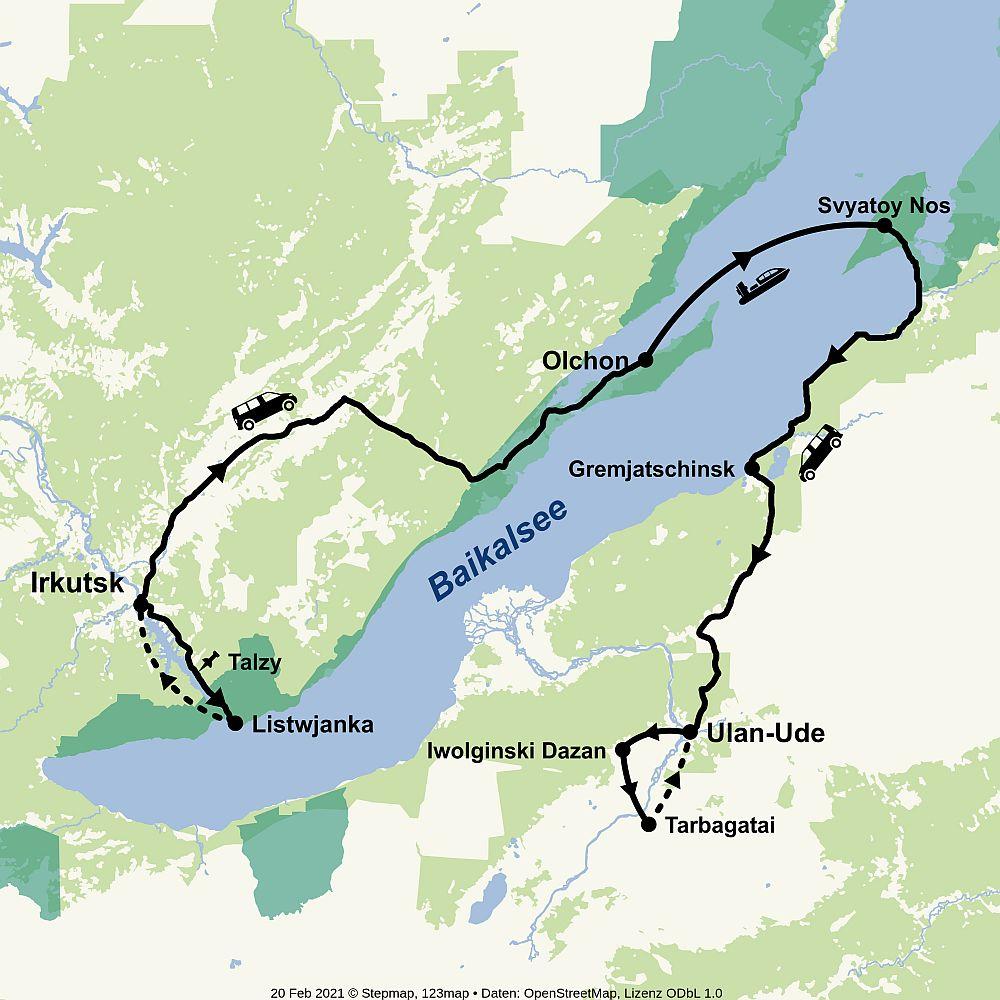 Route Baikal