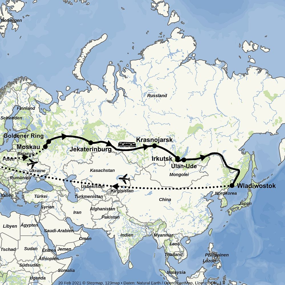 Winter-Transsib Moskau - Wladiwostok