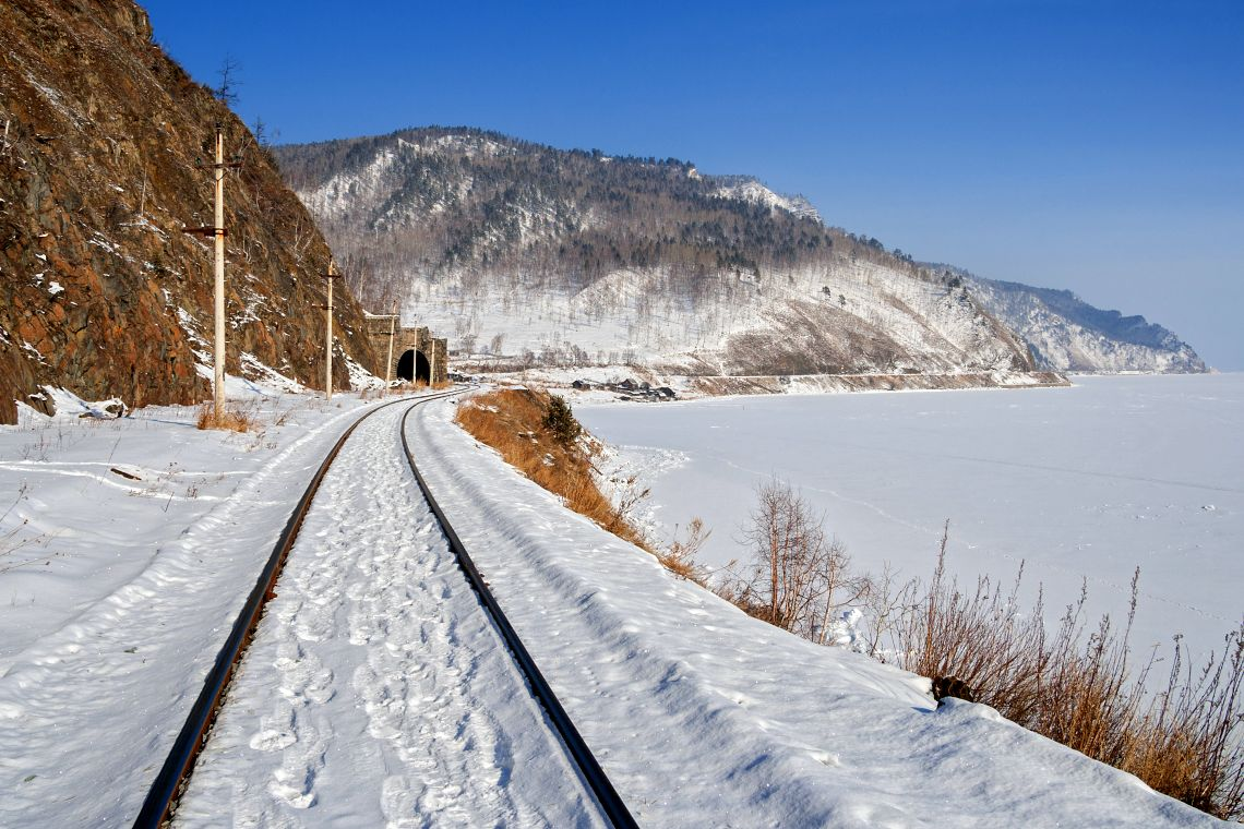 Circum-Baikal-Bahn im Winter