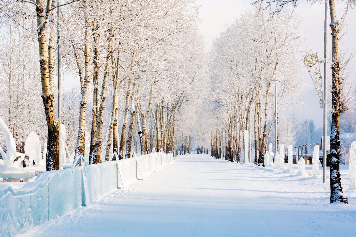 Krasnojarsk. Tatyschew-Insel im Winter