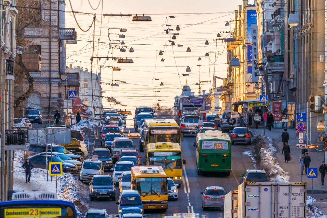 Spitzenverkehrszeit in Wladiwostok
